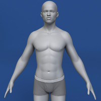 3ds max realistic african man body
