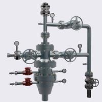 oil valves 3d blend