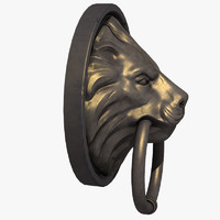 lion head door 3d max