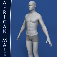 maya realistic african man body