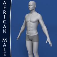 Realistic African Man 3d Model