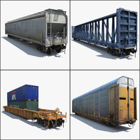 Train 4 Freight Cars 2