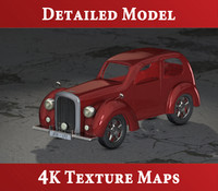 3d exterior classic bentley model