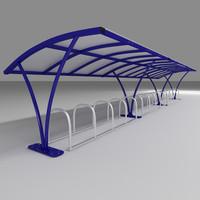 bike shelter 3d max