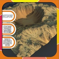 crater terrain 3d max