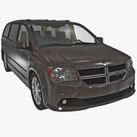 Dodge Grand Caravan 2014 sedan automobile auto vray car driver van minivan vehicle mid sized