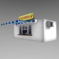 3d icecream kiosk model