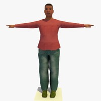 realistically african joanna female body 3d 3ds