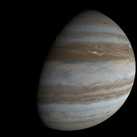 photorealistic jupiter 3d model