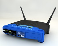 linksys broadband router 3d model