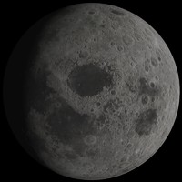 3d model photorealistic moon