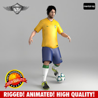 3ds max soccer player rigged