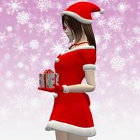 3d max posed natsumi christmas