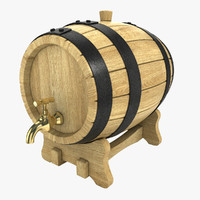 3d max wine barrel