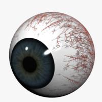 human eye 3d obj