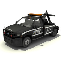 low-poly tow truck 3d max