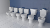 3d model sets toilets