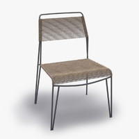 3d alessandro wired chair plastic