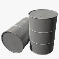 barrel silver paint 3d model