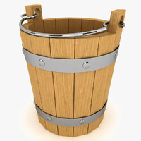 3d bucket modeled model