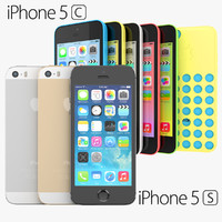 apple iphone 5s 5c 3d model