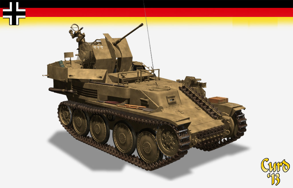 German 50 Mm Anti Tank Gun: 3d Flakpanzer 38 Gepard Flak