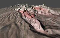 3d model realistic red rock canyon