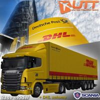 Scania trailer DHL