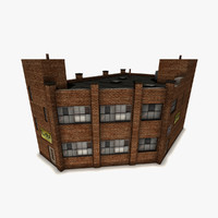 3d old brick manufactory model