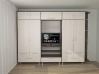 3d model closet wardrobe