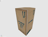 3ds max fragile carton box