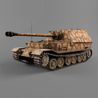 3d model ferdinand german tank