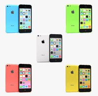 3dsmax apple iphone 5c colors