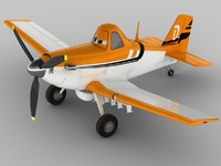 3d model of dusty crophopper planes