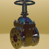 Gate valve on the pipeline