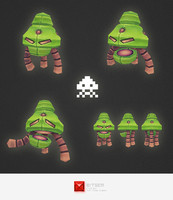 space invader alien ma