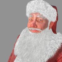max realistical santa claus human rigged