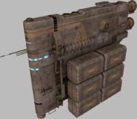 3d model cargo hauler