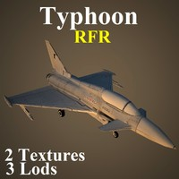 3d model eurofighter typhoon rfr