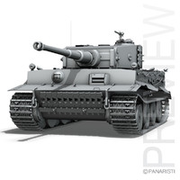 sd tiger - production 3d lwo