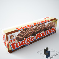 3d little debbie fudge rounds model