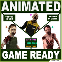 Three Modern Zombies for videogames
