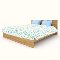 free ikea malm bed 3d model