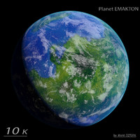 realistic planet emakton 3d model
