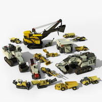 Mining Vehicles Mega Bundle