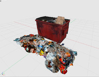 3d model of dumpster container rubbish