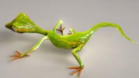 photorealistic gecko animate 3d obj