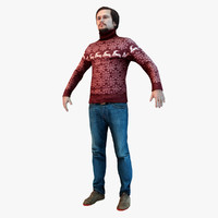 3d casual male model