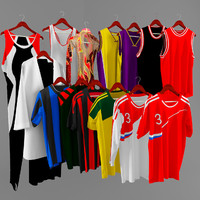t-shirt football soccer 3d model