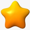 cartoon star 3D models
